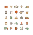 Location and travelling flat icons vector image vector image