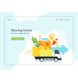 moving home landing page vector image
