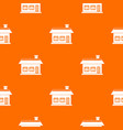 one storey house with two windows pattern seamless vector image vector image