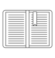Open tutorial with bookmark icon outline style vector image vector image