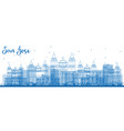 outline san jose costa rica skyline with blue vector image vector image