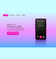phone call application online video chat vector image vector image
