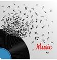 Retro music vintage poster vector image vector image