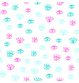 seamless pattern with hand draw eye vector image vector image