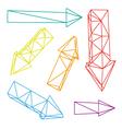 Set of arrows vector image vector image