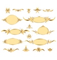 set of gold frames vector image vector image