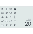 Set of swimming icons vector image