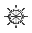 Ship steering wheelhelm Black icon logo element