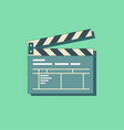 simple clapper board icon in flat style vector image vector image