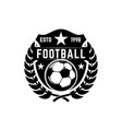 Soccer club emblem design element for logo label