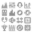 sound and music volume icons set vector image vector image