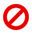 stop sign no entry symbol vector image vector image
