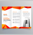 stylish creative trifold brochure with abstract vector image vector image