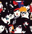 stylish women in style pop art vector image