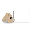 The dog tag on a white background vector image vector image