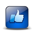 Thumbs up button - like icon vector image vector image