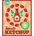 Tomato ketchup retro background vector image vector image