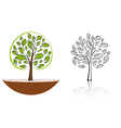 tree emblem 6 vector image vector image