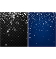 two abstract winter backgrounds with snow vector image vector image