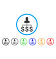 user payments rounded icon vector image vector image