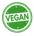 vegan sign or stamp vector image