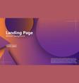 website landing page geometric background minimal vector image