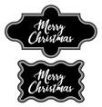 greeting vintage frame chalkboard merry christmas vector image