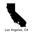 1284 los angeles ca on california state map vector image vector image