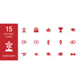 15 ceremony icons vector image vector image