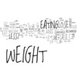 a few simple tips to lose weight text word cloud vector image vector image