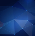 Abstract blue mesh triangle background vector image vector image