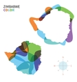 Abstract color map of Zimbabwe vector image vector image
