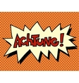 Achtung warning German language vector image vector image