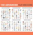 advanced flat web icons