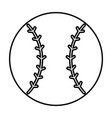 baseball ball emblem icon vector image vector image