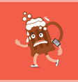 beer on the run with smartphone health concept vector image vector image