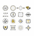 black and golden retro hand drawn sign icons set vector image vector image