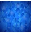 Blue Geometric Retro Mosaic Pattern vector image vector image