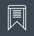 bookmark thin line icon vector image vector image