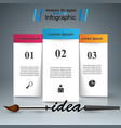brush idea icon business infographic vector image vector image