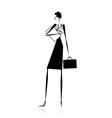 Business lady silhouette for your design vector image vector image