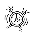 business time hand drawn icon design outline vector image