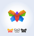 butterfly template vector image