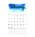 calendar 2017 template with bright blue watercolor vector image