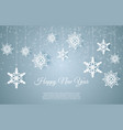 christmas card with paper snow flake falling vector image vector image