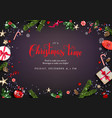 christmas festive elements vector image