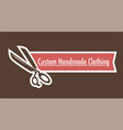 custom handmade clothes logo of tailoring shop vector image