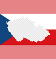 czech republic national flag with transparent map vector image
