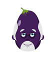 eggplant doctor avatar purple vegetable physician vector image vector image