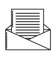 envelope open symbol vector image vector image